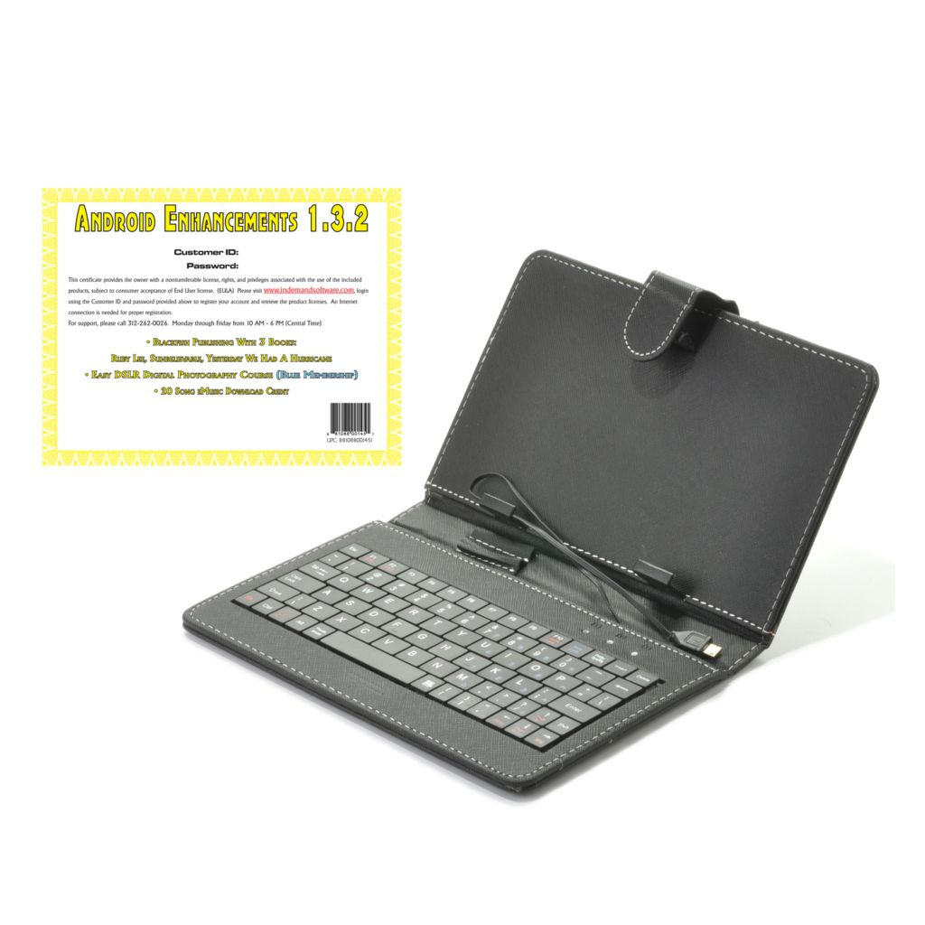 "442-043 - 7"" Tablet Wired Keyboard Case & Android™ Enhancements Software"
