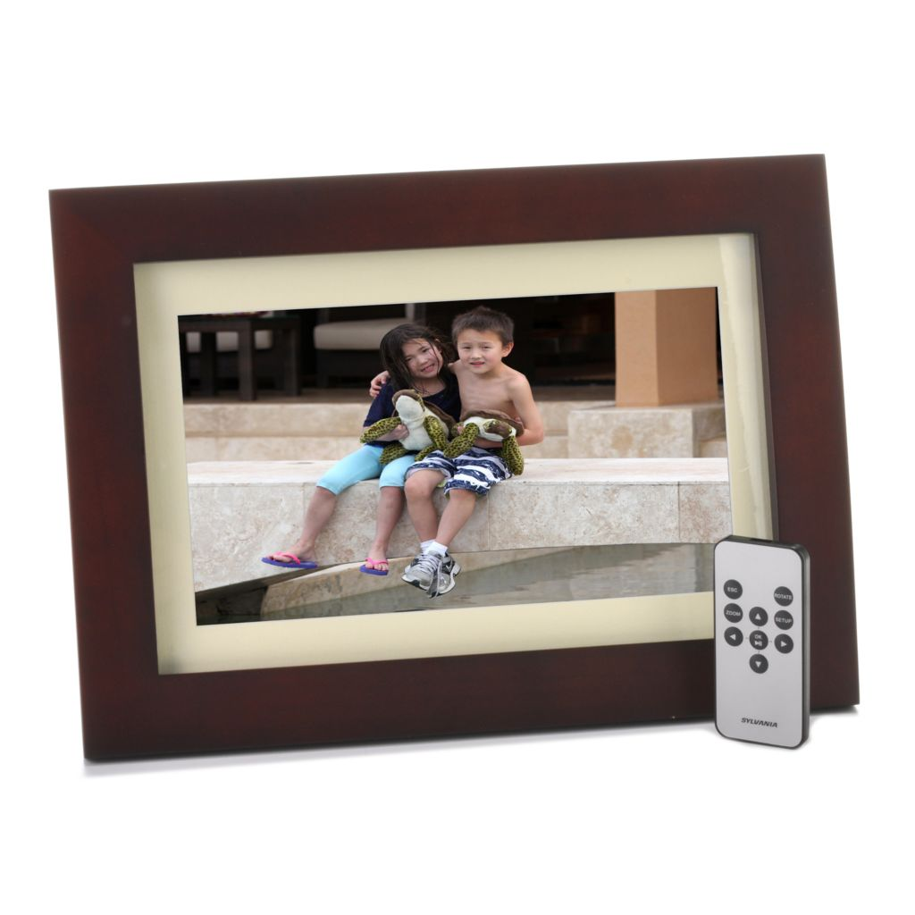 "442-076 - Sylvania 10"" Multi Media Photo Frame w/ Remote Control & Frame Stand"