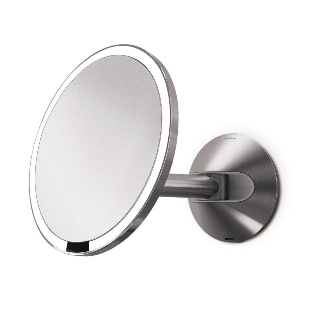 442-095 - simplehuman® Stainless Steel Tru-Lux® Lighted Wall Mount Vanity Sensor Mirror