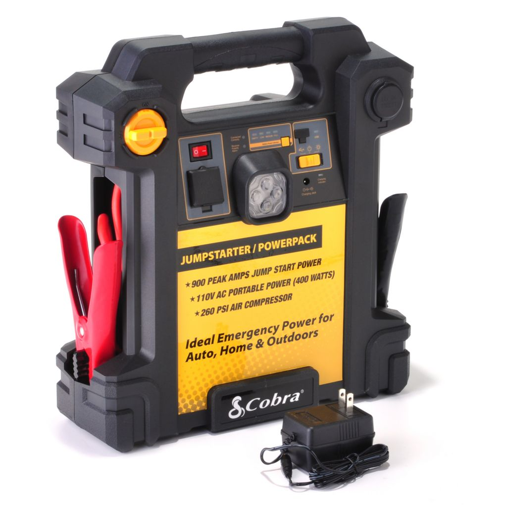 442-098 - Cobra® 900 Amp Jumpstarter w/ Emergency Power & Built-In Air Compressor