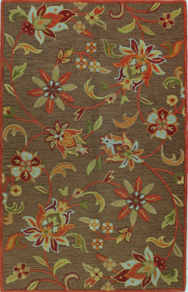 442-113 - Bashian Rugs Verona Collection Jardin Wool Pile Hand-Tufted Rug