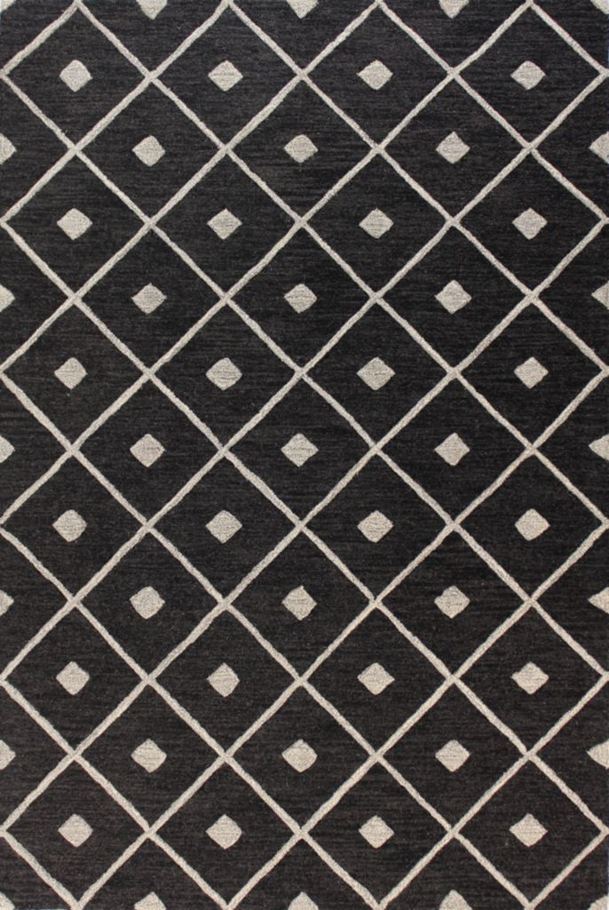 442-139 - Bashian Rugs Diamond Lattice Hand-Tufted 100% Wool Rug