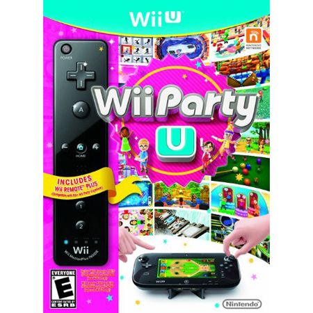 442-177 - Wii-U Party U w/ Black Wii Remote Plus & Stand