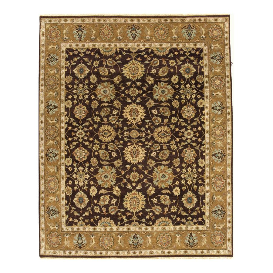 442-195 - Woven Heirlooms Agra Brown Hand-Made Rug