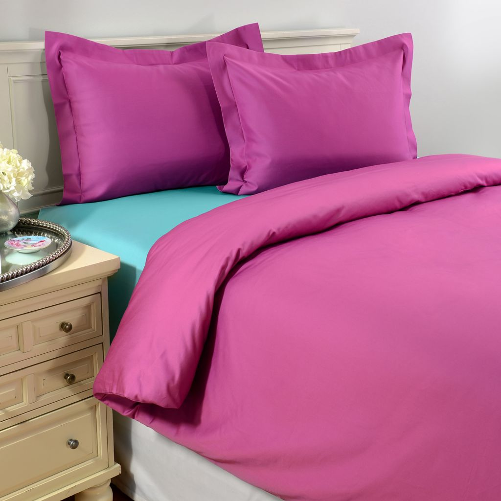 442-220 - North Shore Linens™ 950TC 100% Egyptian Cotton SureSoft® Three-Piece Duvet Set