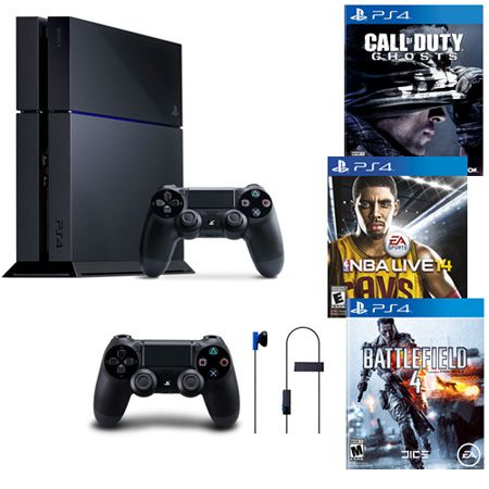 442-232 - Playstation 4 Bundle w/ Call of Duty, Battlefield 4 & NBA Live Games