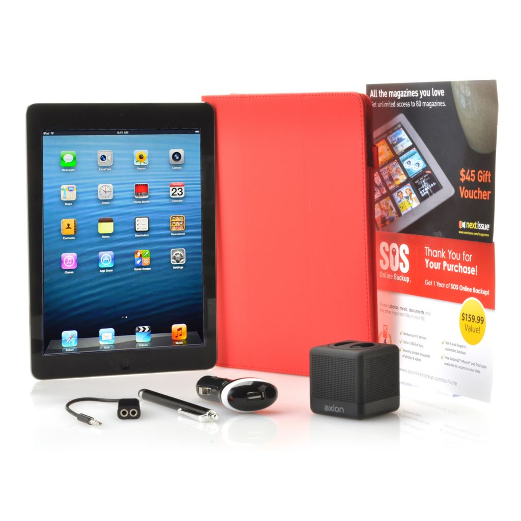 "442-241 - Apple® iPad® Air 9.7"" Retina Display Wi-Fi or 4G LTE Tablet w/Bluetooth & Accessories"