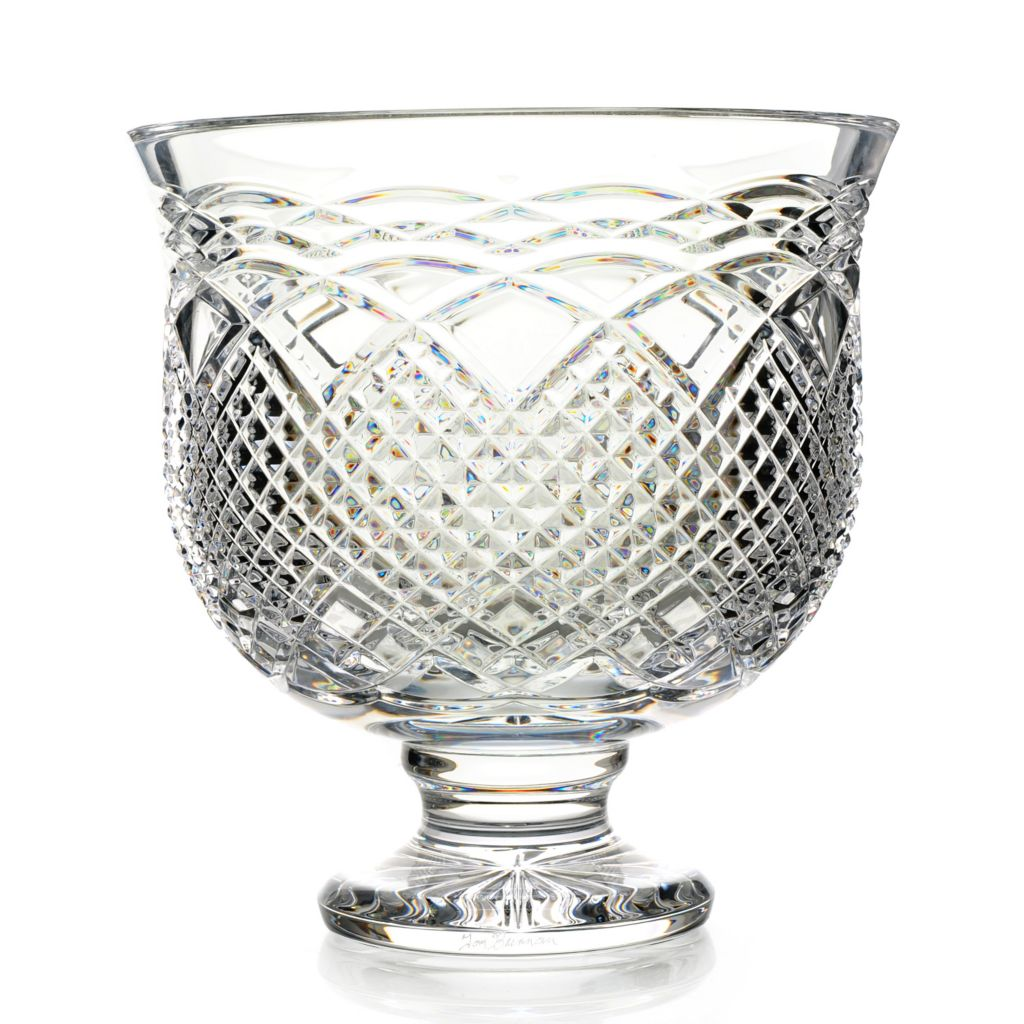 "442-243 - House of Waterford® Irish Rainbow 10"" Crystal Trifle Bowl –Signed by Tom Brennan"