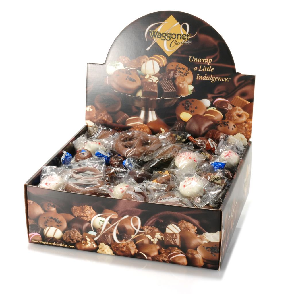 442-246 - Waggoner Chocolate 4 lb Individually Wrapped Signature Chocolates - Holiday Edition