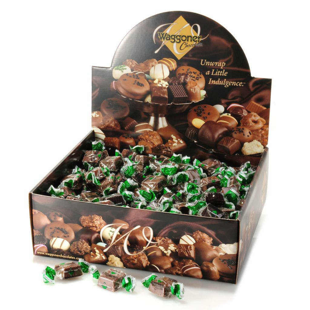 442-249 - Waggoner Chocolates 4 lb Individually Wrapped Signature Mint Chocolate Meltaways