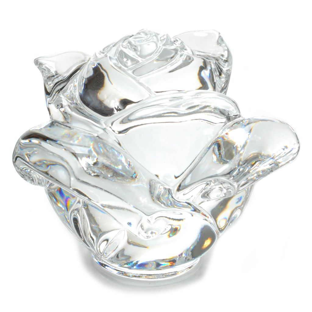 "442-259 - Waterford® Crystal 3"" Sculpted Rose Paperweight"