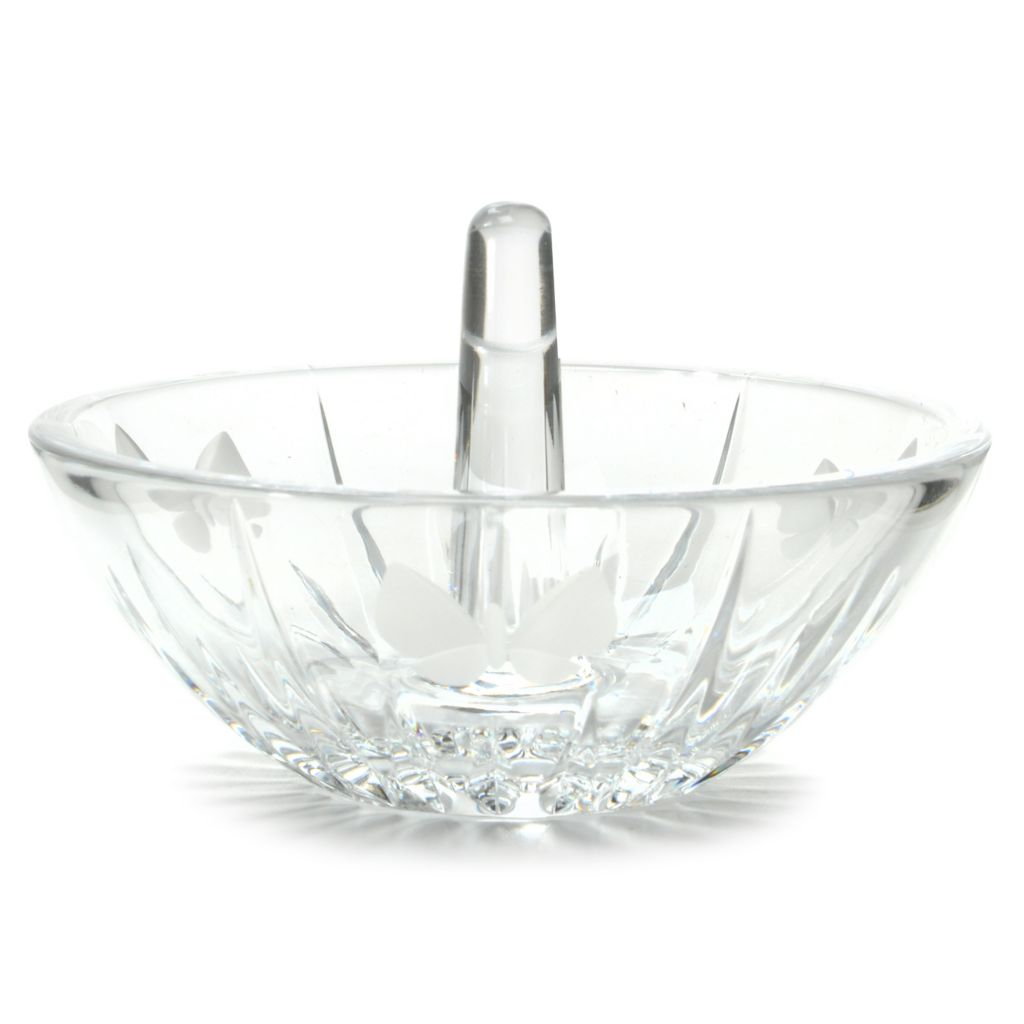 "442-261 - Waterford® Crystal 4"" Wedge Cut Butterfly Ringholder"