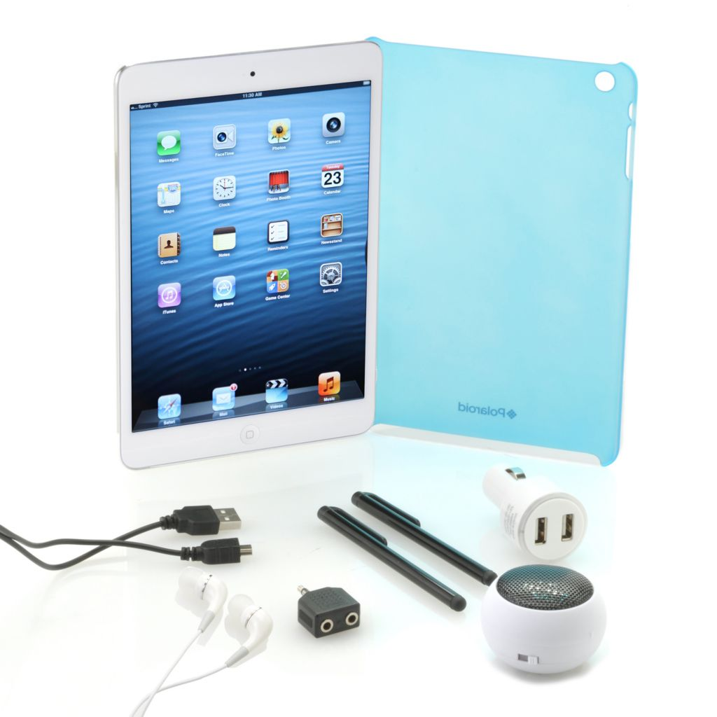 442-278 - Apple® iPad® Mini 16GB Wi-Fi Tablet w/ Online Storage, Hardshell Case & Accessories Kit