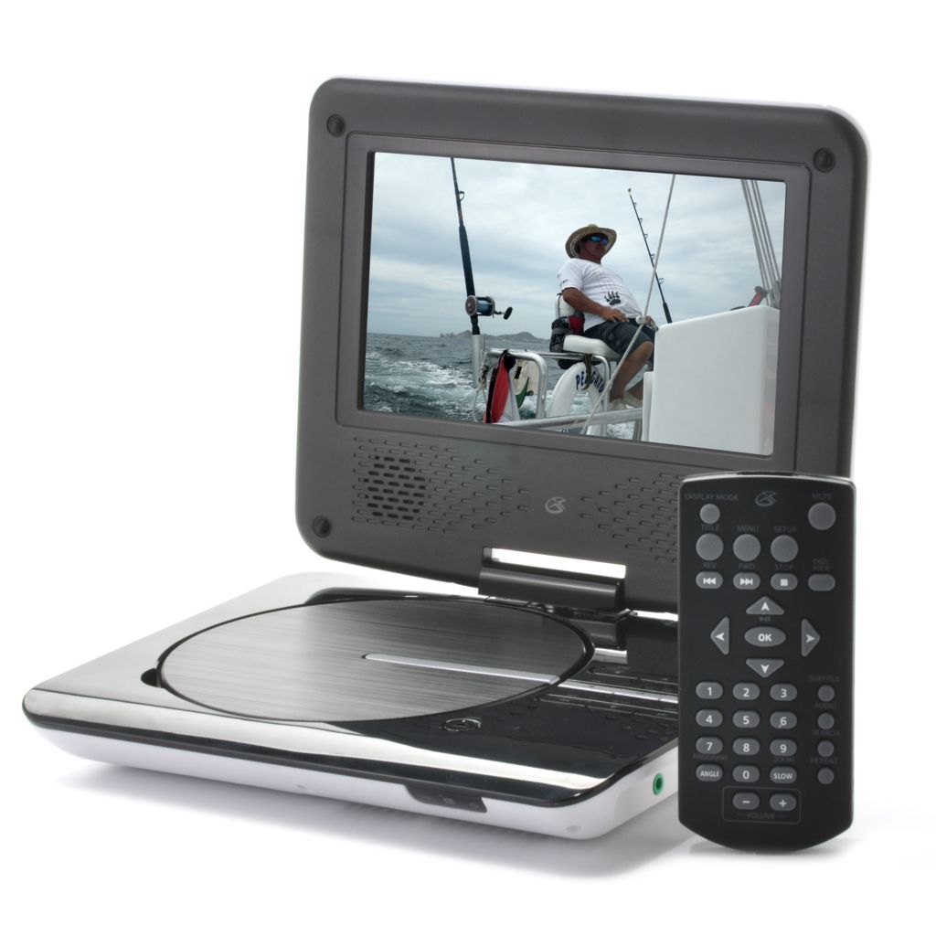 "442-283 - GPX® 7"" LCD Portable DVD Player w/ Built-in Stereo Speakers"