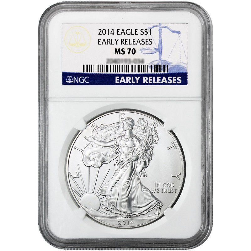 442-287 - 2014 Silver American Eagle Early Release NGC Coin