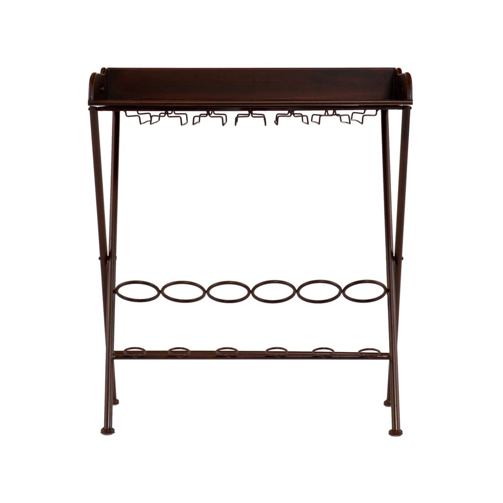 442-391 - Espresso Wine Table & Storage