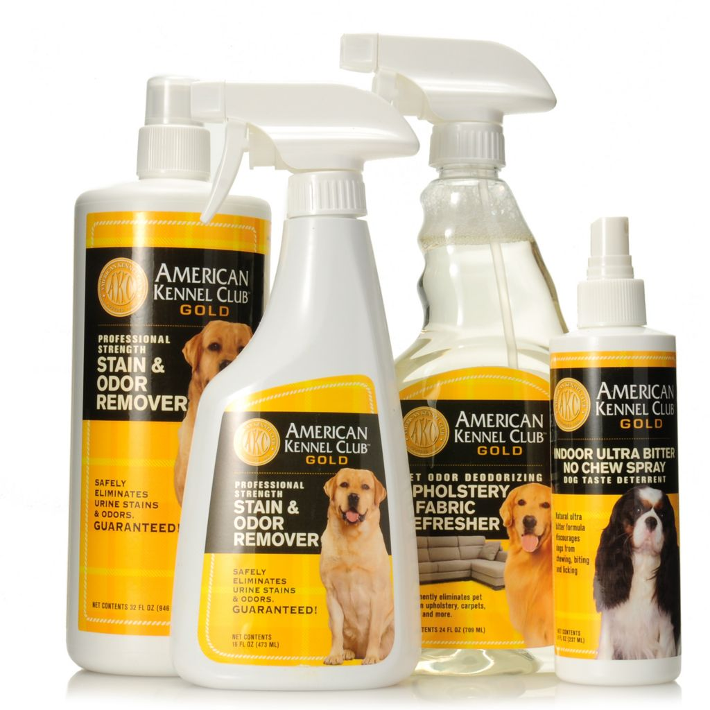 442-410 - American Kennel Club™ Gold Four-Piece Pet Combo Training & Cleaning Pack
