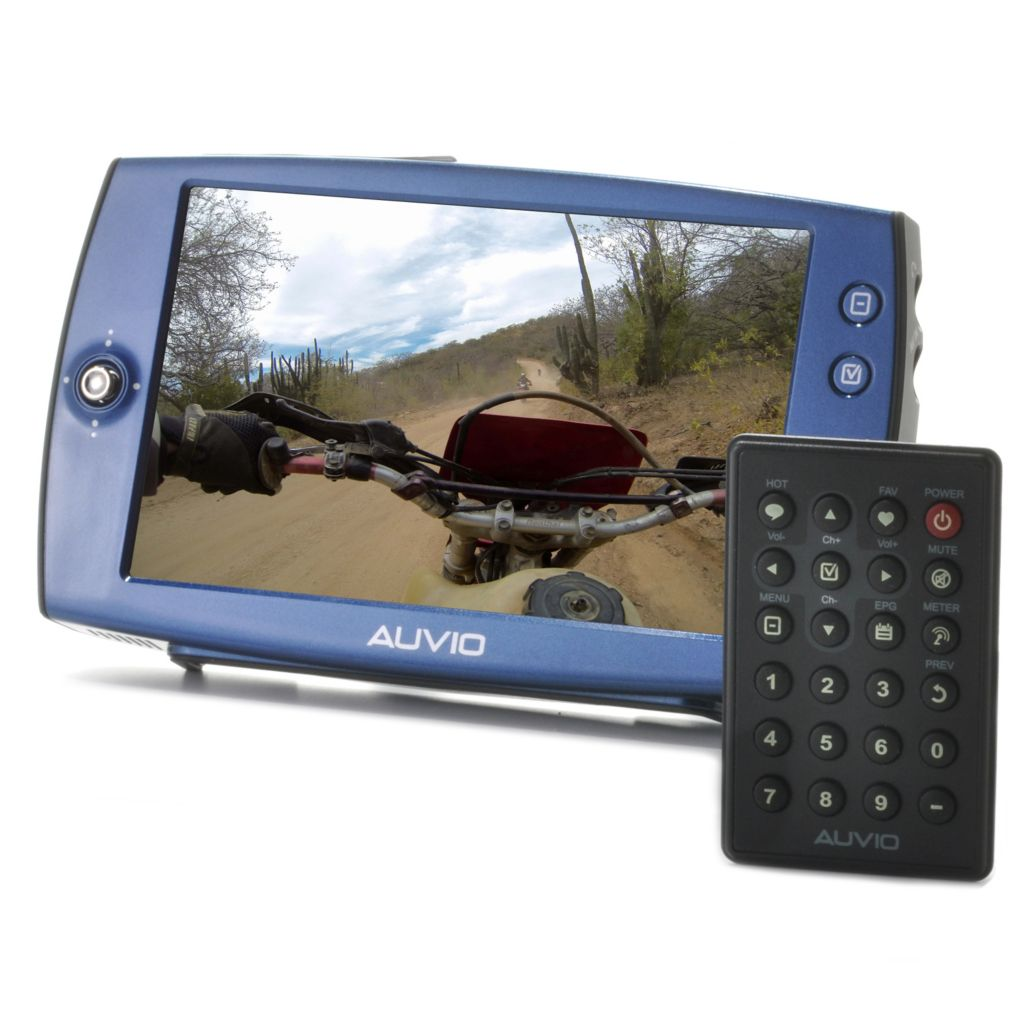 "442-423 - Auvio™ 7"" LCD Portable Digital TV w/ Built-in Folding Stand"