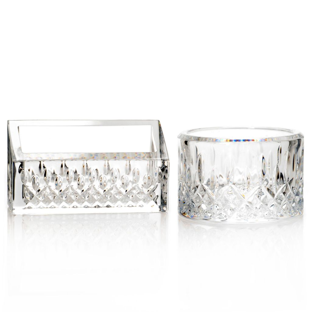 442-435 - Waterford® Crystal Lismore Essence Two-Piece Desk Tray & Business Card Holder Set