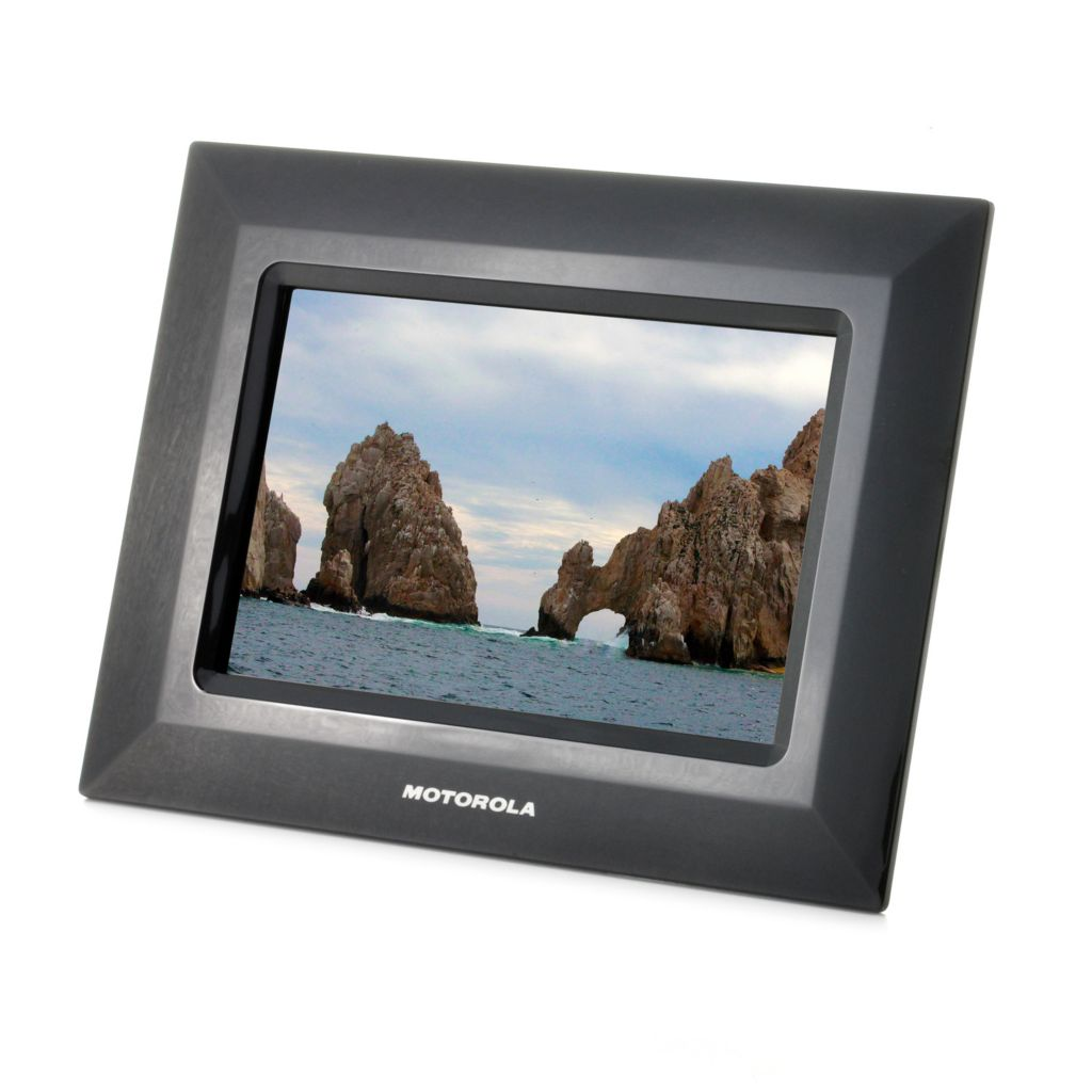 "442-463 - Motorola 7"" LCD Digital Photo Frame w/ Multi-Format Card Reader"
