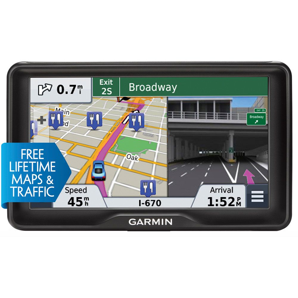 "442-477 - Garmin NUVI2797LMT 7"" GPS Navigator w/ Free Lifetime Maps and Traffic Updates"