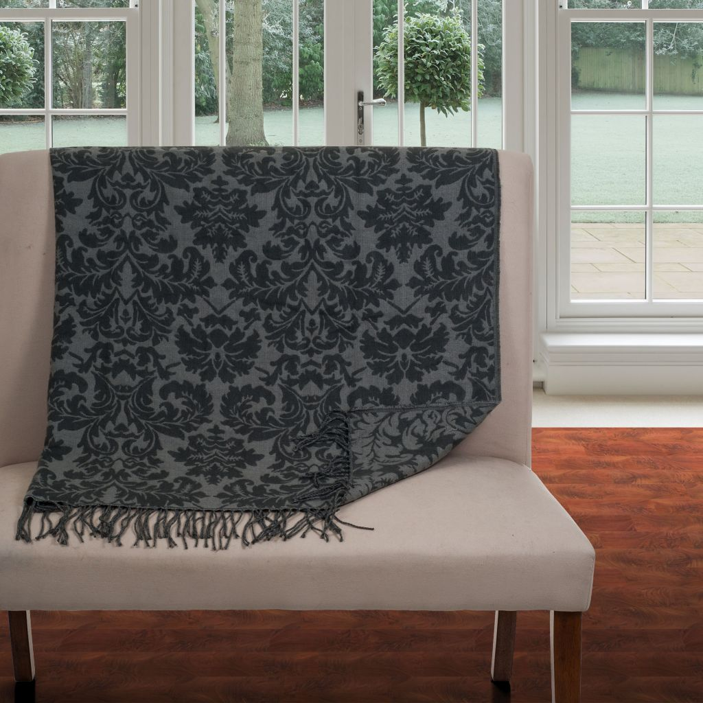 442-492 - Lavish Home Jacquard Blanket Throw