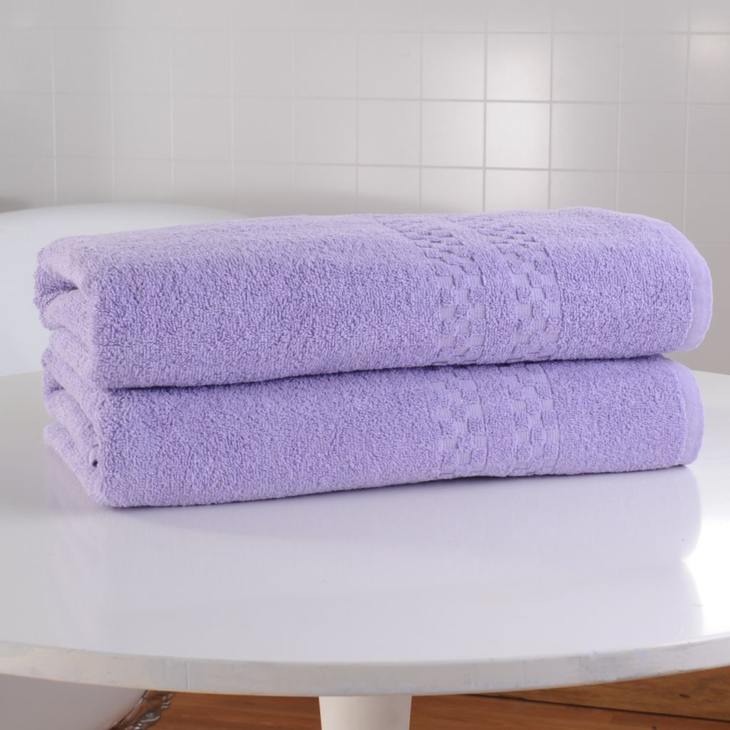 442-494 - Cozelle® Set of Two Ultra-Absorbent 100% Cotton Bath Sheets