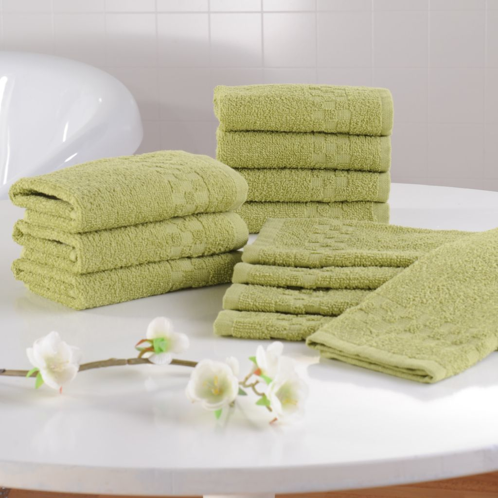 442-496 - Cozelle® Set of 12 Ultra Absorbent 100% Cotton Washcloths