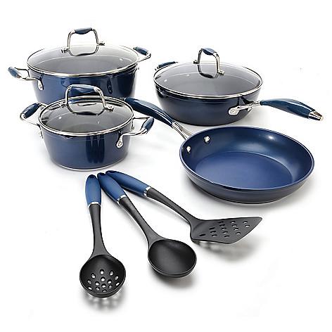 442-497 - Cook's Companion™ 10-Piece Color Nonstick Cookware Set