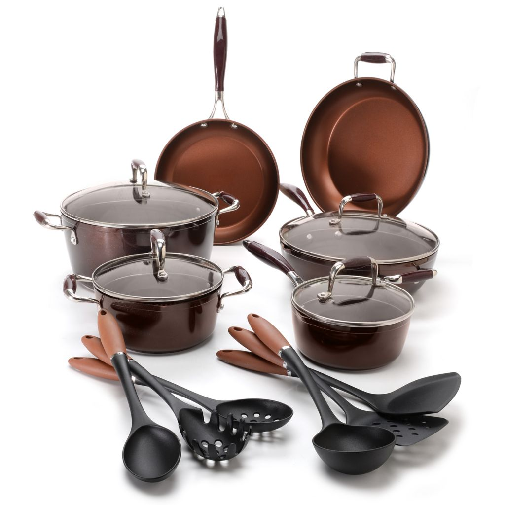 442-516 - Cook's Companion™ 16-Piece Cold Forged Aluminum Color Nonstick Cookware Set