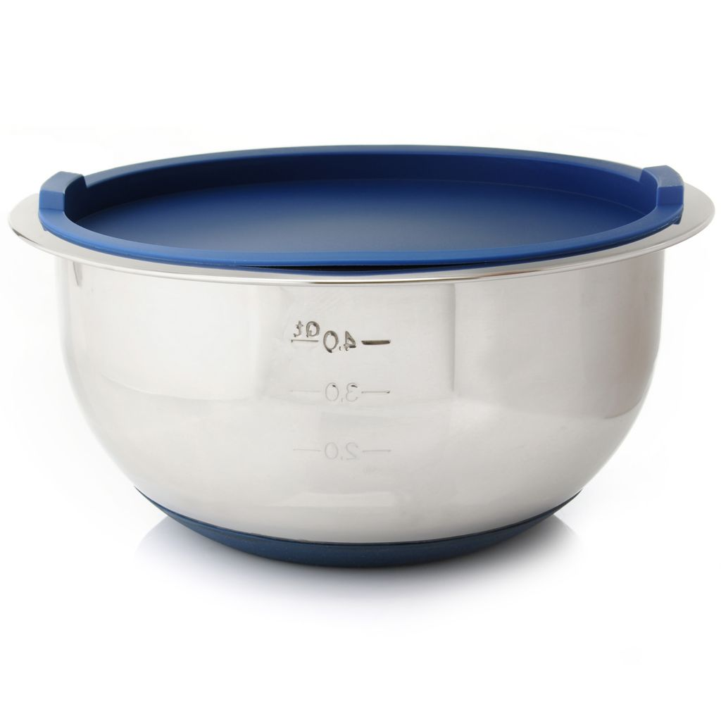 442-521 - Cook's Companion™ Stainless Steel 5 qt Non-Slip Mixing Bowl w/ Lid
