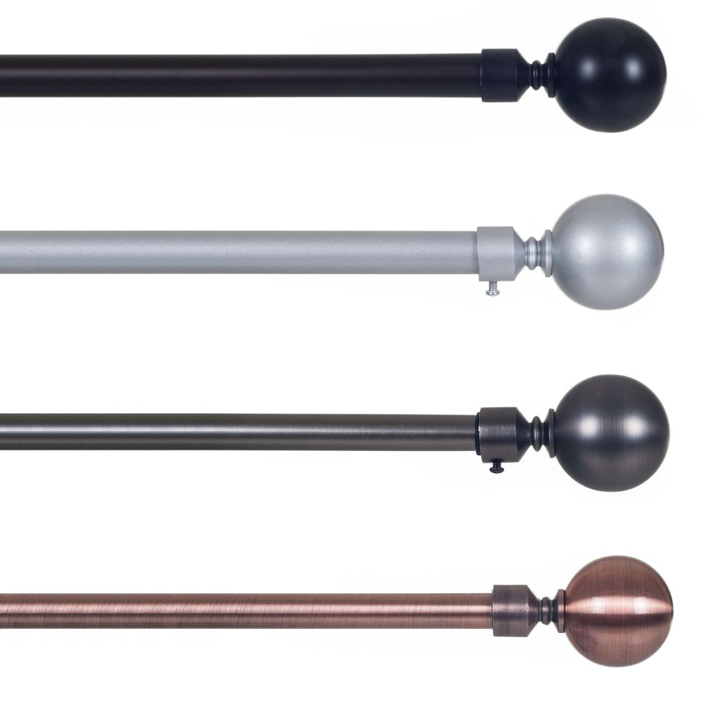 "442-525 - Lavish Home 3/4"" Sphere Curtain Rod"