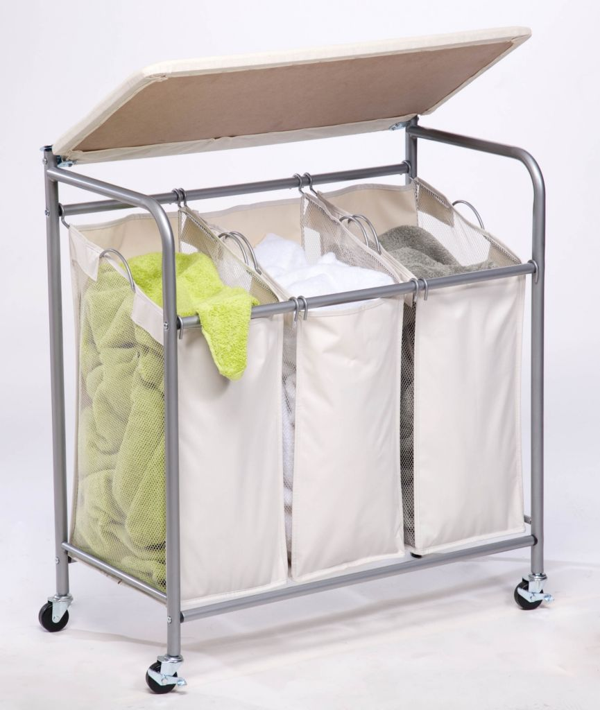 442-575 - Honey-Can-Do Laundry Center w/ Ironing Station and Clothing Sorter