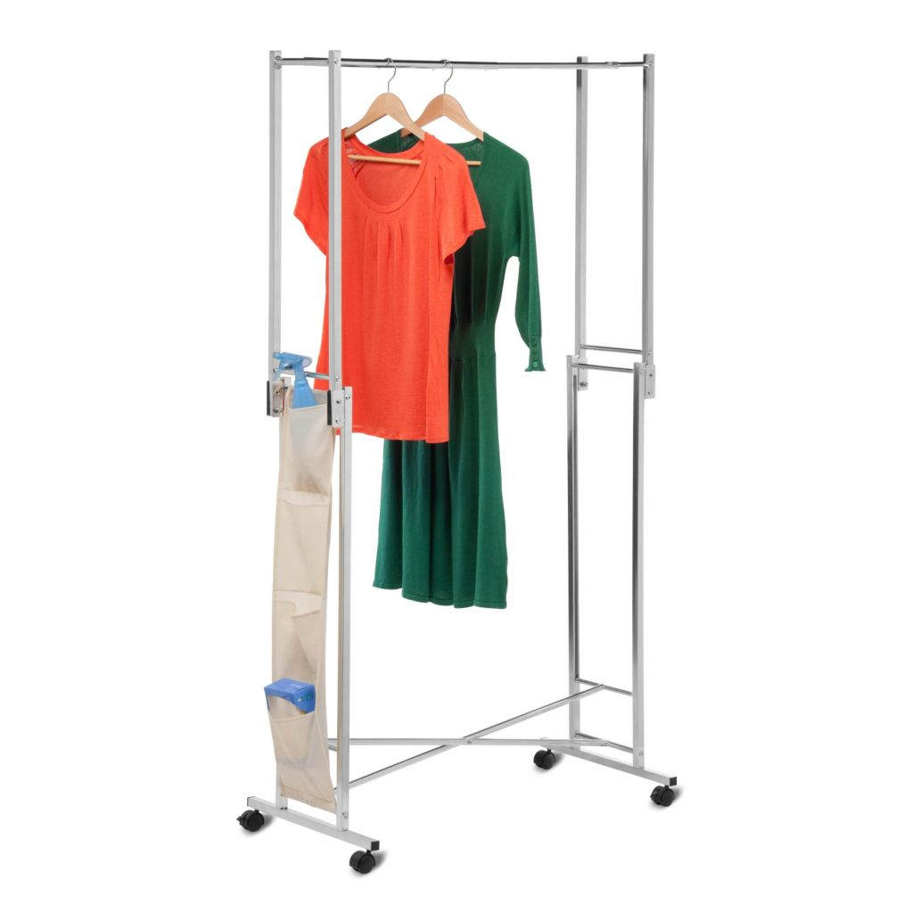 442-579 - Honey-Can-Do Steel Double Folding Square Tube Garment Rack