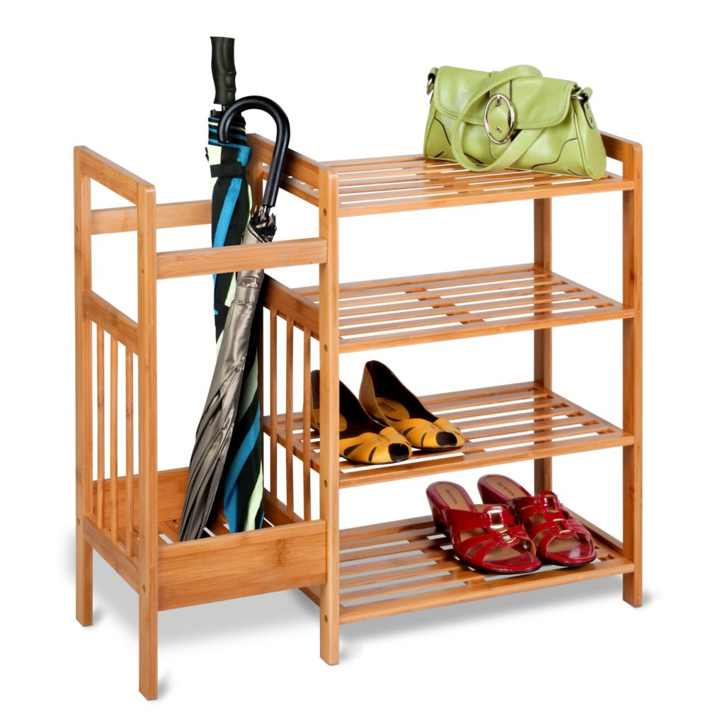 442-581 - Honey-Can-Do Bamboo Entryway Organizer