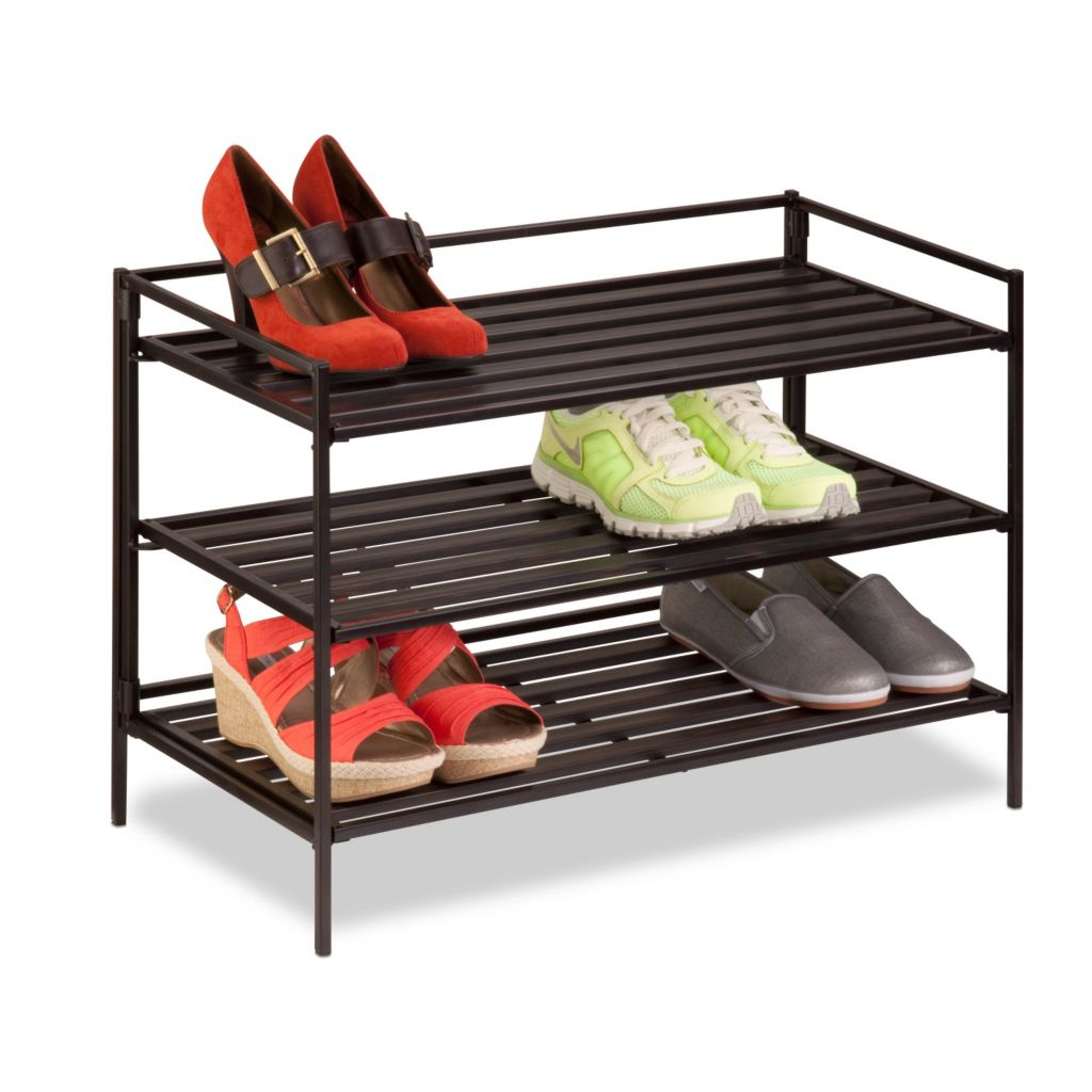 442-582 - Honey-Can-Do Three-Tier Shoe & Accessory Rack