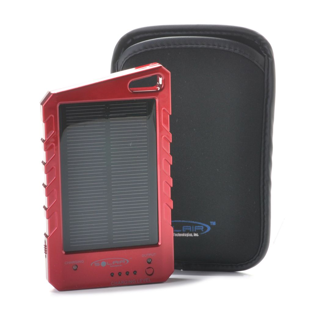 442-607 - Solair™ Solar Universal Portable Charger w/ Six Adapters & Carrying Case