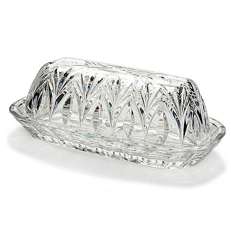 442-623 - Marquis by Waterford Canterbury 7.25'' Crystal Butter Dish w/ Lid