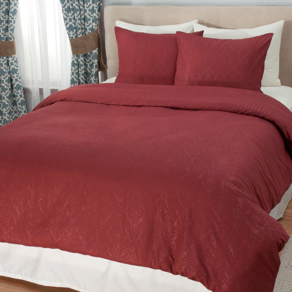 442-654 - Cozelle® Eight-Piece Microfiber Reversible Duvet, Comforter & Sheet Set