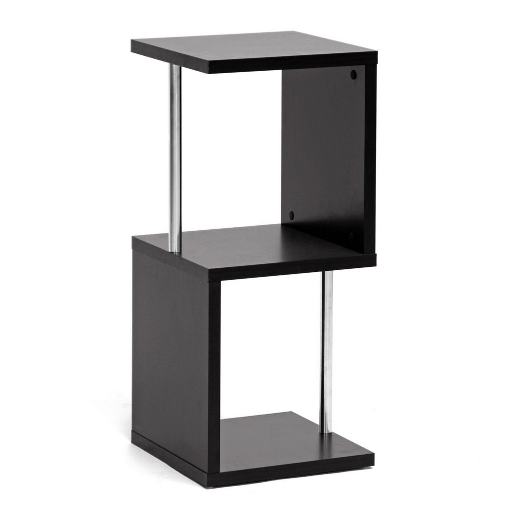 442-655 - Baxton Studio Lindy Dark Brown Modern Display Shelf