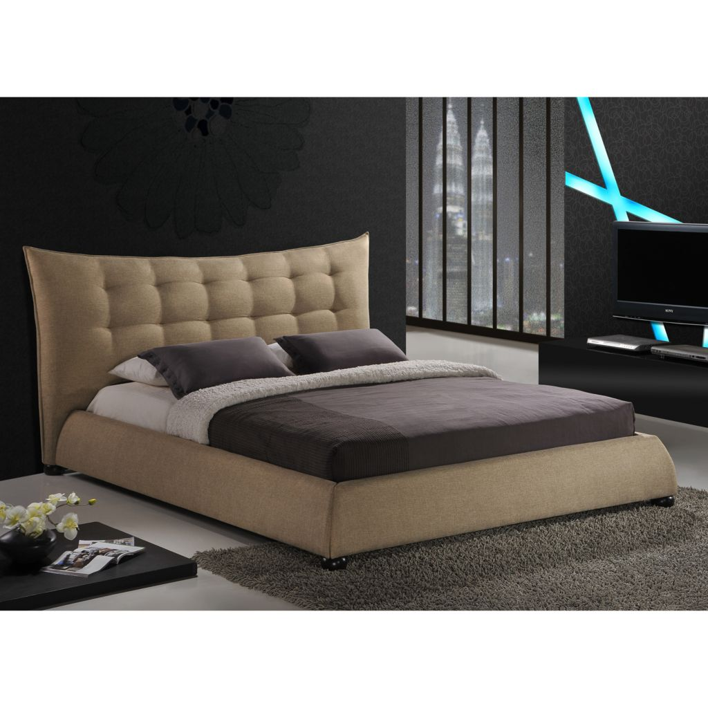 442-691 - Baxton Studio Marguerite Linen Modern Bed