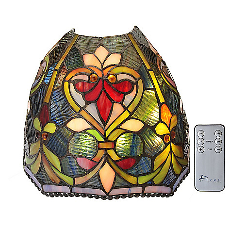 442-694 - Tiffany-Style 8.75'' Brianne Wireless LED Stained Glass Wall Sconce w/ Remote Control
