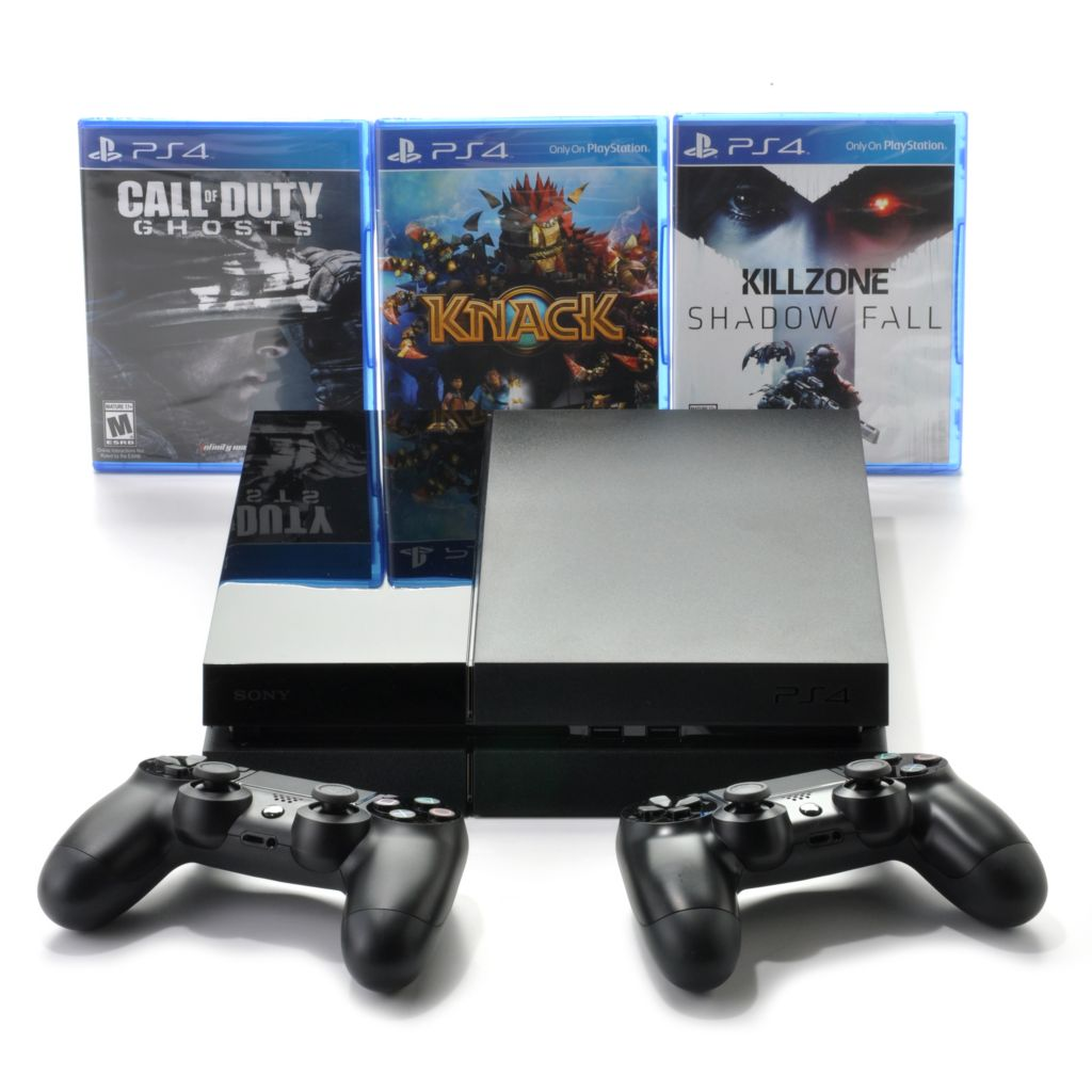 442-698 - Sony® PlayStation PS4™ Gaming System w/ Two DualShock® 4 Controllers & Three Games