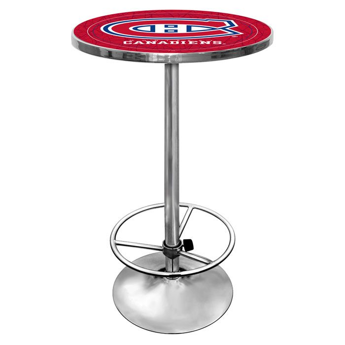 "442-716 - NHL 27"" Round Pub Table w/ Footrest"