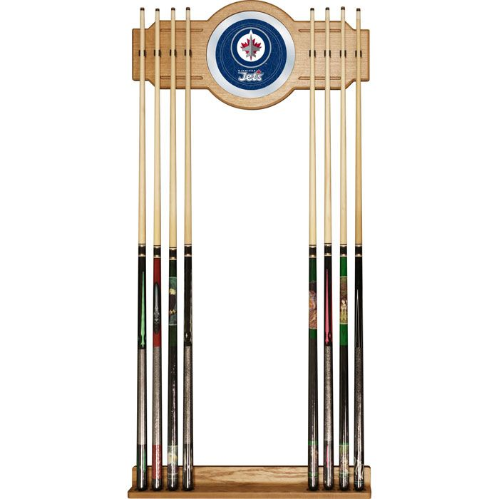 442-718 - NHL Team Logo Mirror Wall Pool Cue Rack