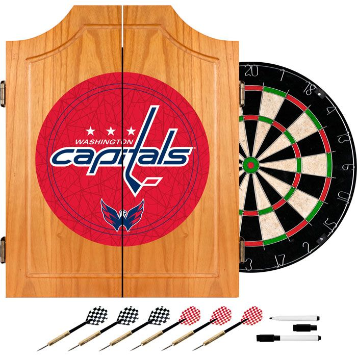 442-719 - NHL Dart Cabinet w/ Board & Darts