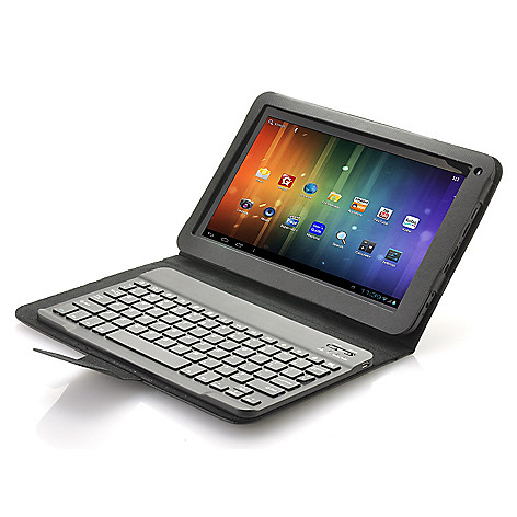 442-735 - Proscan 10.1'' Google Certified Android™ 4.1 16GB Dual-Core Tablet w/ Keyboard Case