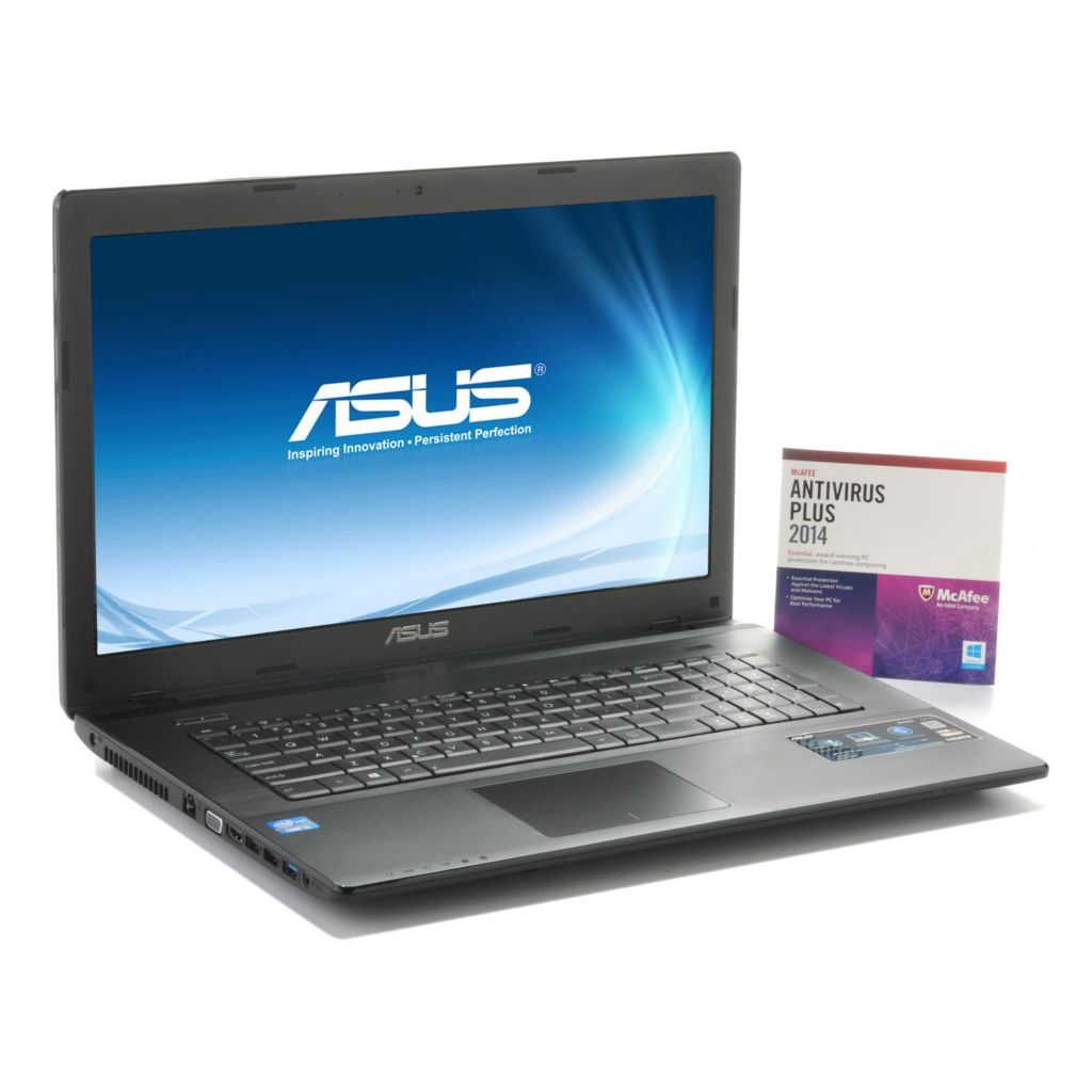 "442-777 - ASUS 17.3"" LED 2.5GHz 750GB HDD Windows® 8 Wi-Fi Notebook w/ McAfee Antivirus"