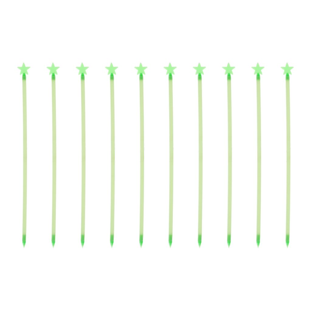"442-839 - Pure Garden 16.25"" Set of 10 Glow in the Dark Star Path Marker Rods"