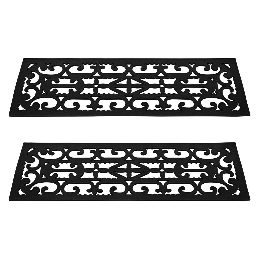 442-843 - Pure Garden Set of Two Non-Slip Stair Tread Mats